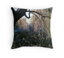 Weeping Warwickshire Willows Throw Pillow