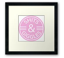 Shits And Giggles, Infant Humor. Framed Print