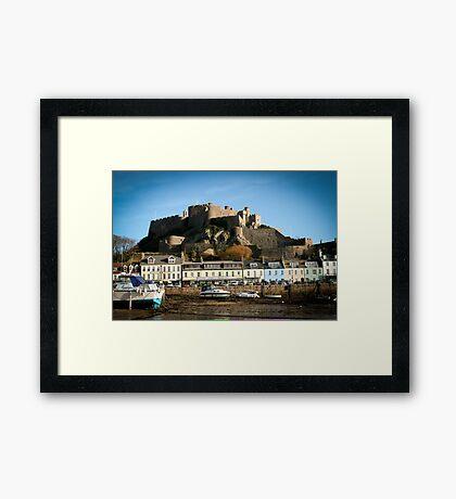 Gorey Harbour Jersey Framed Print