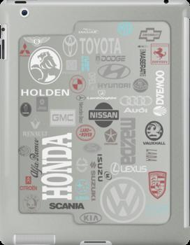Auto Brand iPad Case by tapiona