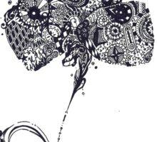 Inked Flower Sticker