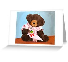 Gail Bear with Edelweiss Pin Greeting Card