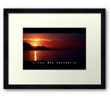 Lifou island at Twilight Framed Print