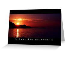 Lifou island at Twilight Greeting Card