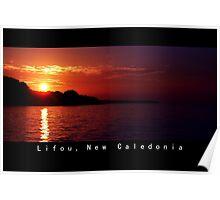 Lifou island at Twilight Poster