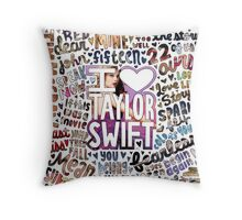 Taylor Swift Song Photo Collage Throw Pillow