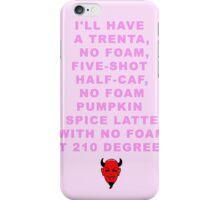Scream Queen Pumpkin Spice Latte iPhone Case/Skin