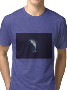 Leaping Dolphin (II) Tri-blend T-Shirt