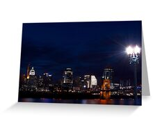 Cincinnati Skyline 3 Greeting Card