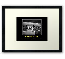 Courage -- D Day Poster Framed Print