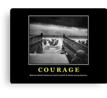 Courage -- D Day Poster Canvas Print
