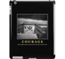 Courage -- D Day Poster iPad Case/Skin