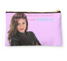 Famous humourous quotes series: Well behaved women seldom make history Studio Pouch