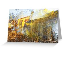 wattle and wall Greeting Card