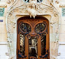 Art Noveau Door, Paris by David Mapletoft
