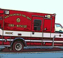 San Francisco Fire Dept. Medic Vehicle by Samuel Sheats