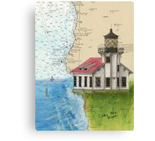 Pt Cabrillo Lighthouse CA Chart Cathy Peek Canvas Print