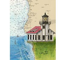 Pt Cabrillo Lighthouse CA Chart Cathy Peek Photographic Print