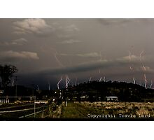 Mountain Lightning Photographic Print