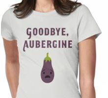 Goodbye, Aubergine Womens Fitted T-Shirt