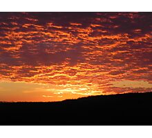 Perfect Sunset in the Ozarks Photographic Print