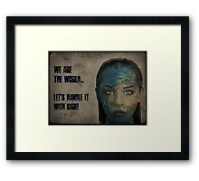 We Are The World Framed Print
