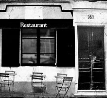 Parisian Restaurant by Karen Lewis