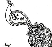Paisley Peacock by danastrotheide