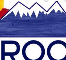 Crook Colorado wood mountains Sticker