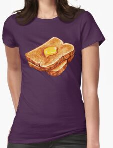Buttered Toast Pattern Womens Fitted T-Shirt