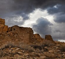 Chaco Canyon Storm by Kim Barton