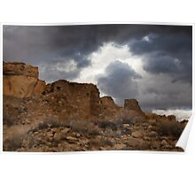 Chaco Canyon Storm Poster