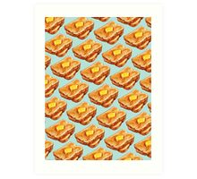 Buttered Toast Pattern Art Print
