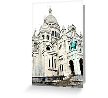 The Basilica of the Sacred Heart of Paris Greeting Card