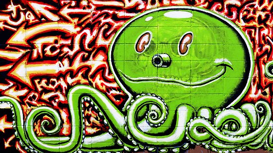 Green Octopus by shutterbug2010