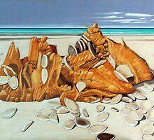 Stranger on the Shore, Tatlow's Beach, Stanley. by Richard Klekociuk