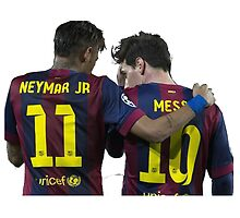 messi and neymar by agassa24