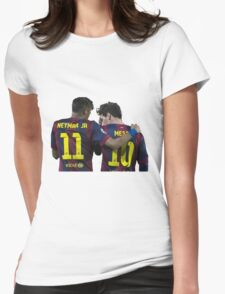messi and neymar Womens Fitted T-Shirt