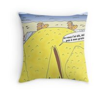 Caricature de la vengeance de Big Bird Throw Pillow