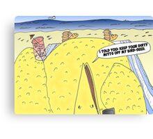 The Big Bird Revenge editorial cartoon Canvas Print