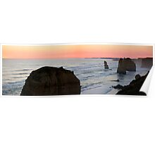 Twelve Apostles - Great Ocean Road VIC (panorama) Poster
