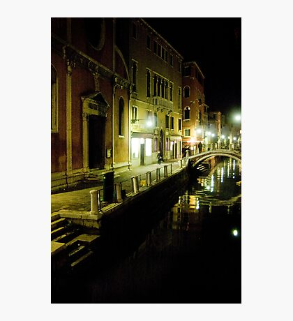 Down a Dark Street Photographic Print