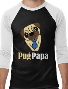 Pug Papa Men's Baseball ¾ T-Shirt