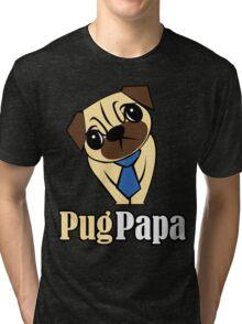 Pug Papa Tri-blend T-Shirt