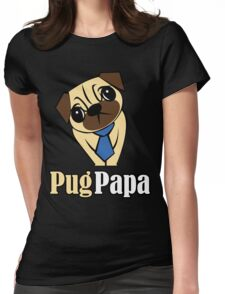 Pug Papa Womens Fitted T-Shirt