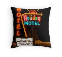 Vegas Motel Throw Pillow
