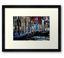Gondolas Framed Print