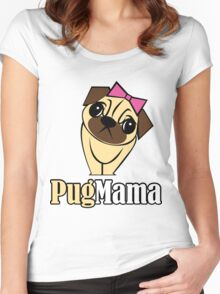 Pug Mama Women's Fitted Scoop T-Shirt