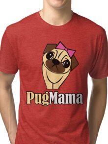 Pug Mama Tri-blend T-Shirt