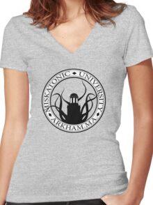 Miskatonic U. Women's Fitted V-Neck T-Shirt